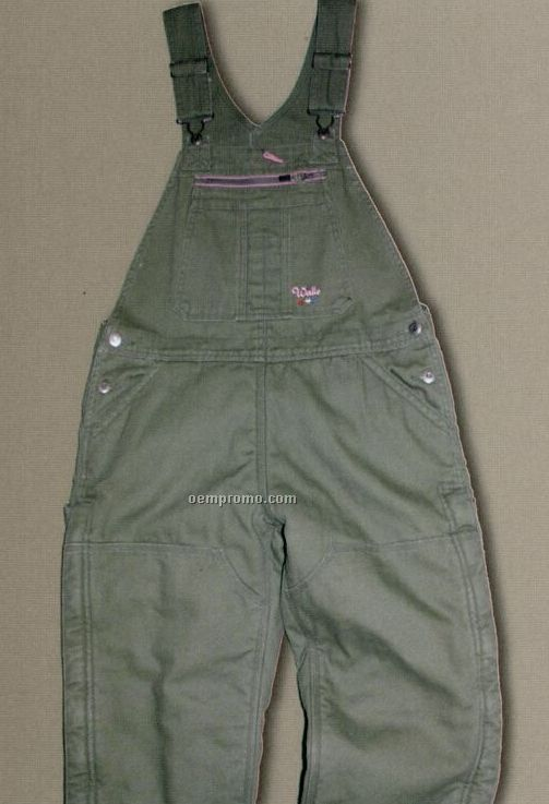 Walls Mid Weight Washed Duck Insulated Bib Overalls