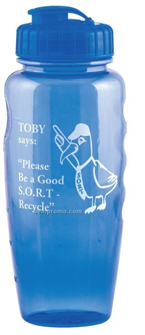 30 Oz. Poly Clear Gripper Bottle - High Gloss