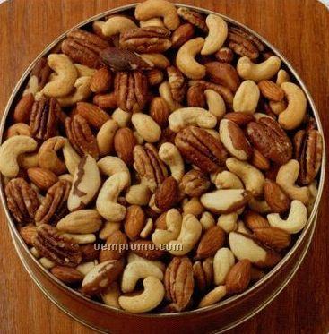 32 Oz. Deluxe Mix Nuts Designer Gift Tin (No Peanuts)