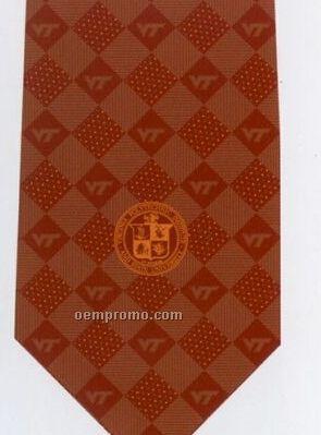 Custom Logo Printed Polyester Tie - Pattern Style N