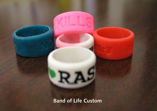 Custom Silicone Band Of Life Thumb Ring