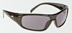 Single Lens Sport Style Safety Glasses W/ Gray Lens & Black Frame