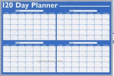 Write-on Planning Board (120 Day Planner)