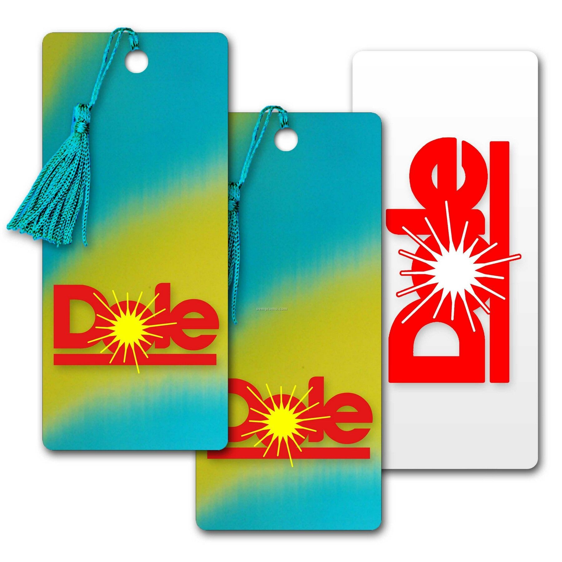 3d Lenticular Pvc Bookmark Yellow And Turquoise Changing Colors (Custom)