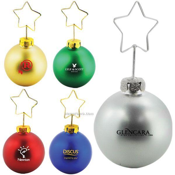 Christmas Ornament Desktop Memo Holder