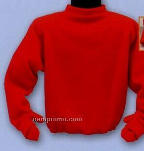 Promotional Polar Fleece Solid Color Pullover With Hide-a-way Mittens