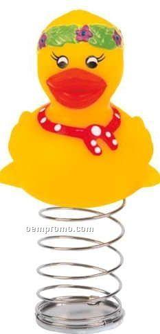 Rubber Friendly Duck Bobble