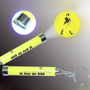 LED Electric Torch With Key Chain (Projection Lamp)