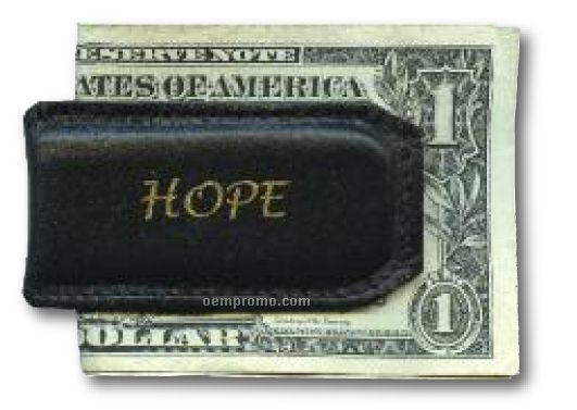 "Leather Money Clip / 1 1/2""X2 7/8"""