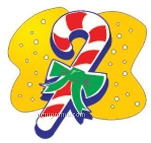 Candy Cane Acrylic Coaster W/ Felt Back