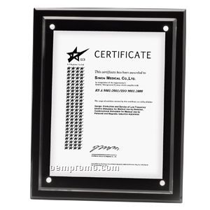 """Magnetic Blank Acrylic Certificate Holder (13""""X10 1/2""""X1/2"""")"""