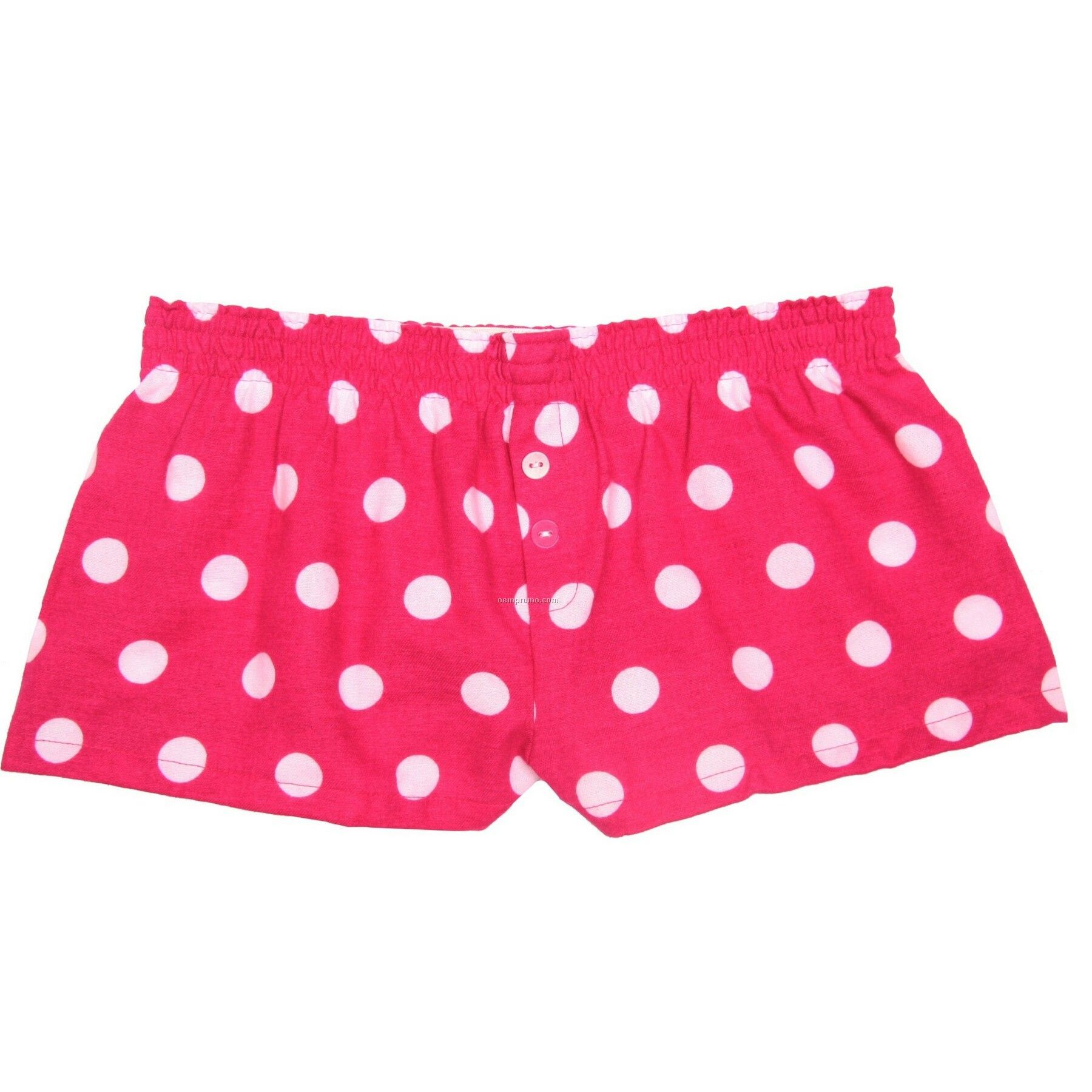 Youth Hot Spot Fuchsia Pink Flannel Bitty Boxer Short