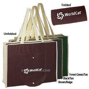 2-tone Non-woven Foldable Shopping Tote Bag
