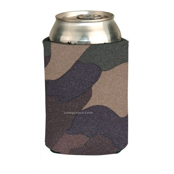 Camouflage Foam Can Cooler