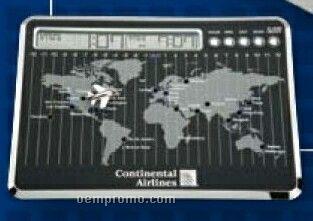 Giramondo World Timer Alarm Clock W/ Airplane & Disc Marker Pins