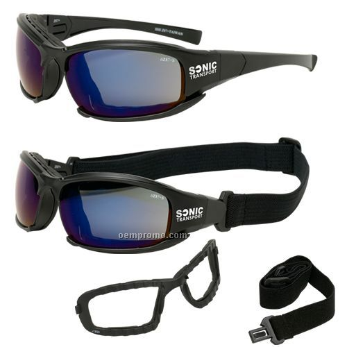 Blue Mirror safety goggles