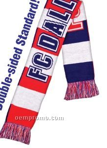 """Knitted Stadium Scarf - Priority (62""""X7"""")"""