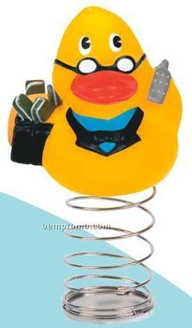 Rubber Financial Duck Bobble
