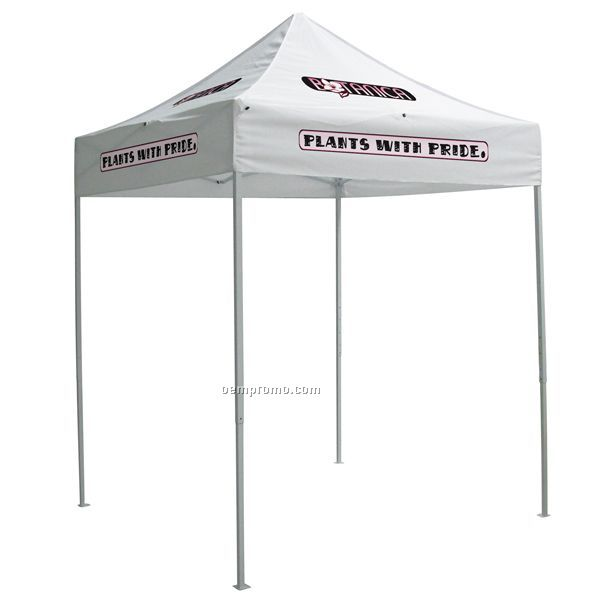6' Square Tent W/ Full Color Thermal Imprint In 8 Location