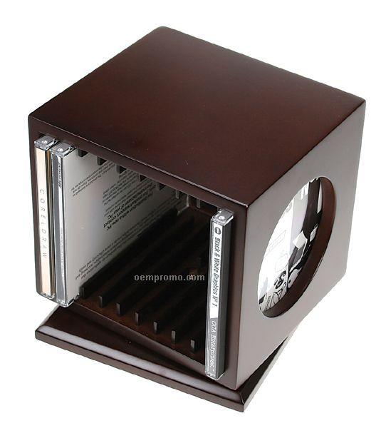 Executive Desktop Revolving CD Holder With Frame