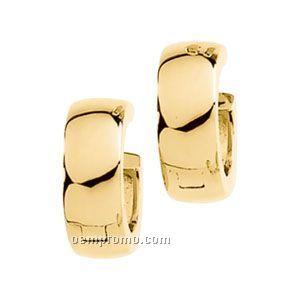 13-1/2mm Ladies' 14ky Hinged Earring