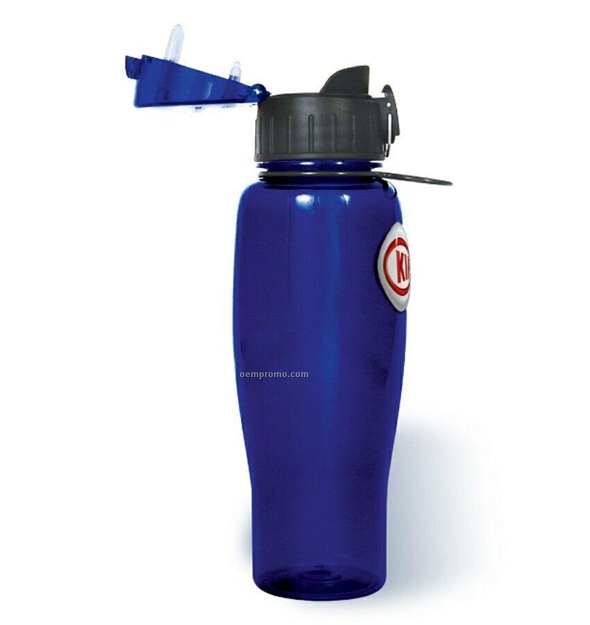 24 Oz. Polycarbonate Sports Bottle (Dome Design 4 Color Process)