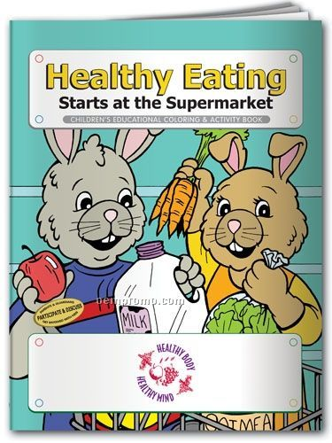Action Pack Book W/Crayons & Sleeve - Healthy Eating Starts At Supermarket