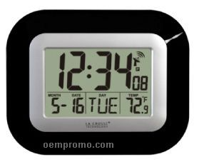 Atomic Desk Clock W/12 Time Zones In Temperature