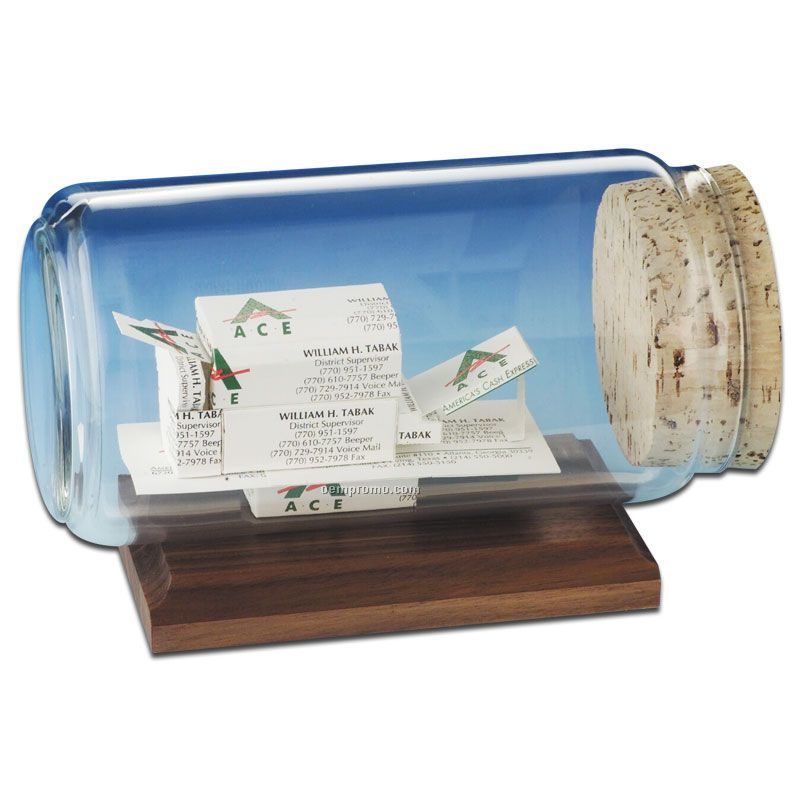 Business Card In A Bottle Sculpture - Copy Machine