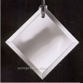 Classy Ornamentals. Beveled Square Clear Mirror Ornament W/Hole For Hanging