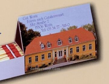 Custom Table Top House A Match Box W/ 140 Count Matches (112x55x30x47mm)