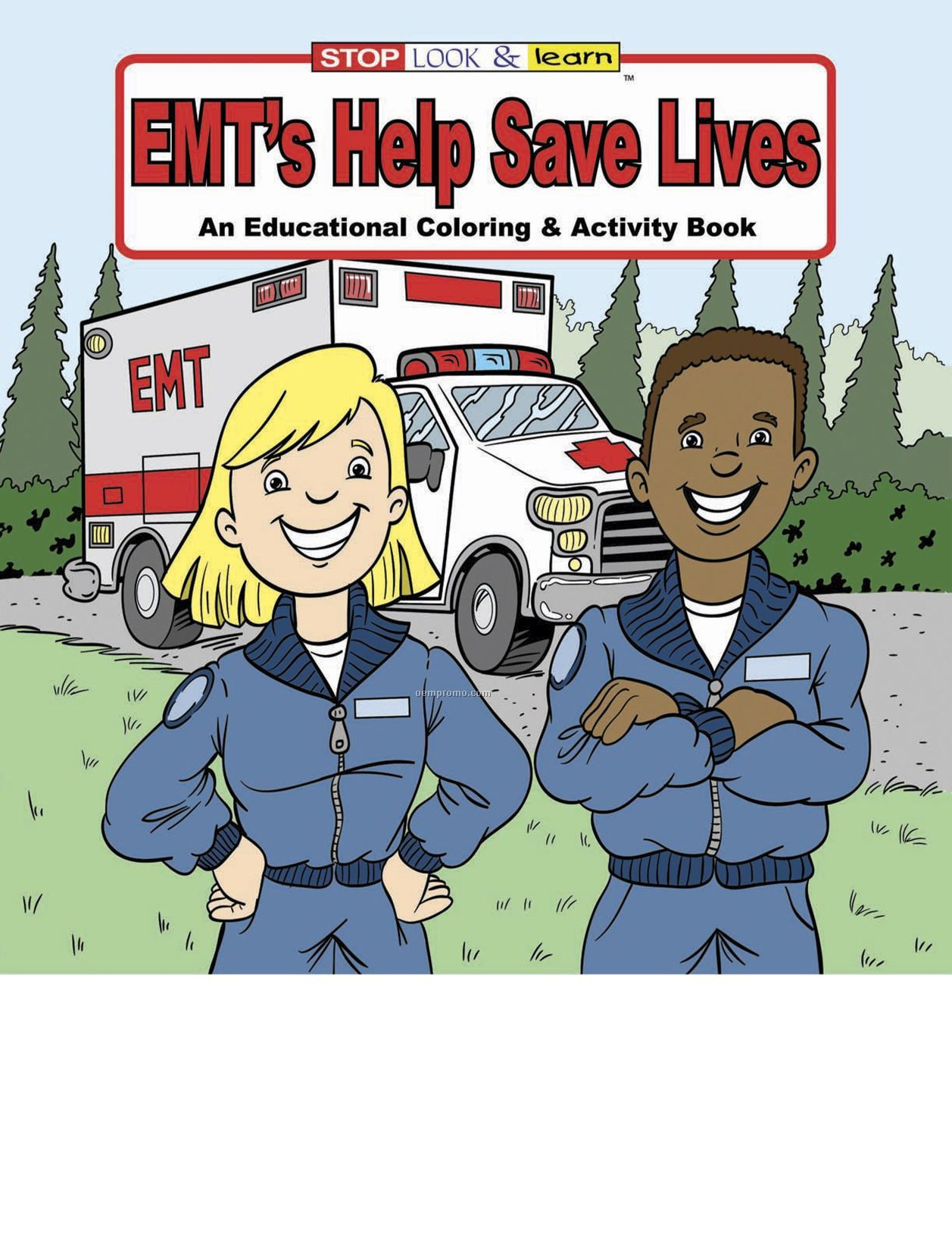 Emts Help Save Lives Coloring Book Fun Pack