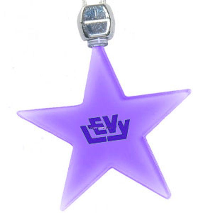 Purple Star Light Up Pendant Necklace