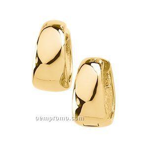8mm Ladies' 14ky Hinged Earring