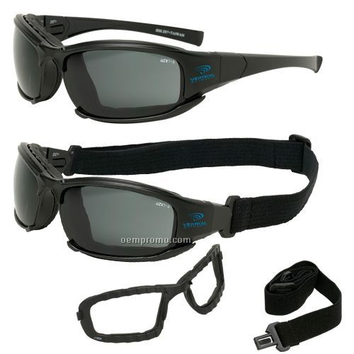 Gray safety goggles