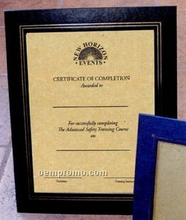 """Deluxe Certificate Frame For 8 1/2""""X11"""" Certificate"""