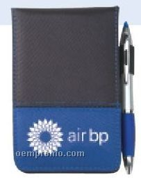 Dual Tone Jotter With Pen & Stylus