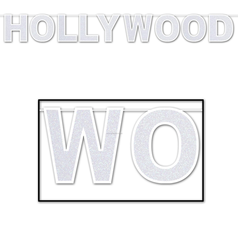 Glittered Hollywood Streamer