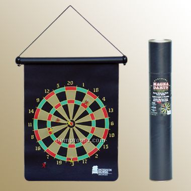 Magnetic Dart Game In A Cardboard Cylinder