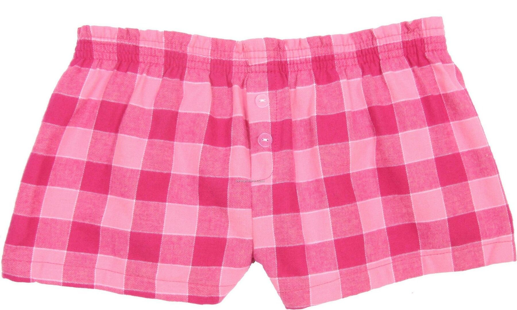 Youth Bubblegum Pink Flannel Bitty Boxer Short With False Fly
