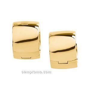 14ky 16mm Ladies' Hinged Earring