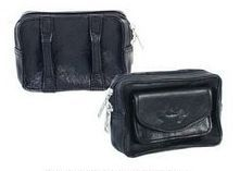 Black Plonge Leather Belt Pouch