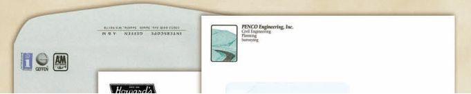 Capitol Bond #10 Envelopes (Black Plus 1 Standard Color Ink Imprint)