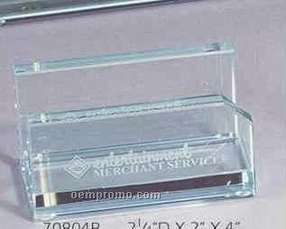 Jade Glass Business Card Holder
