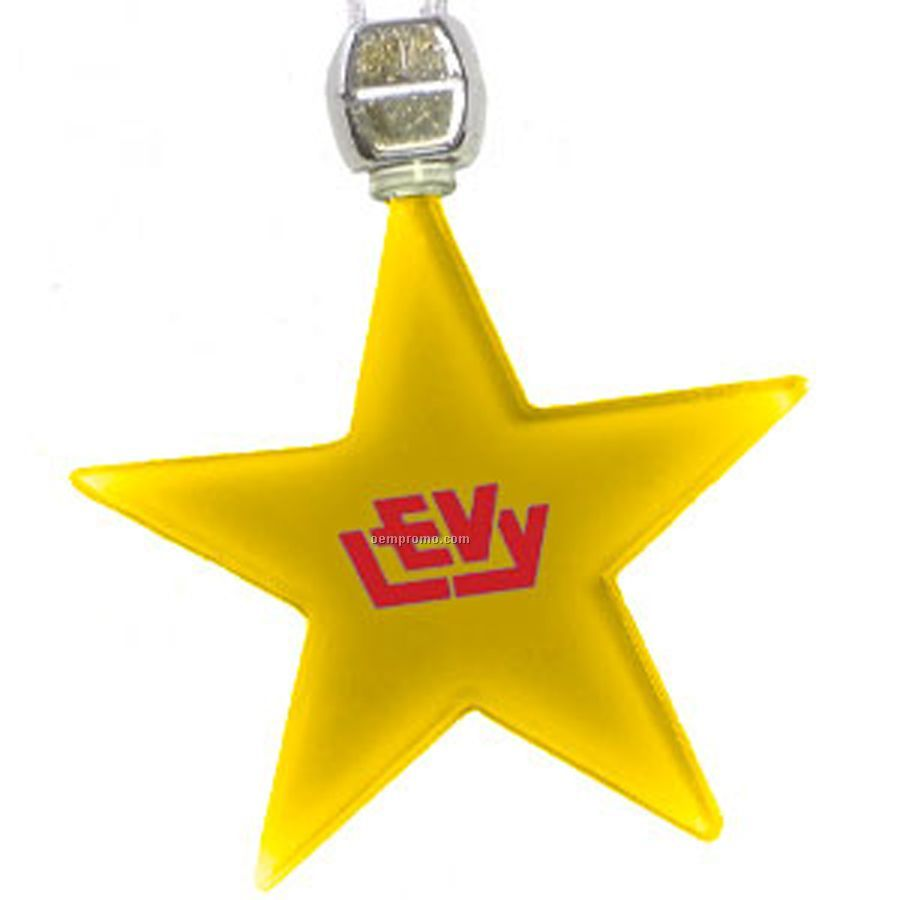 Yellow Star Light Up Pendant Necklace