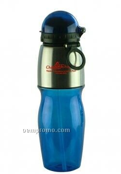 25 Oz. Classy Polycarbonate Sports Bottle With Flip Top Lid
