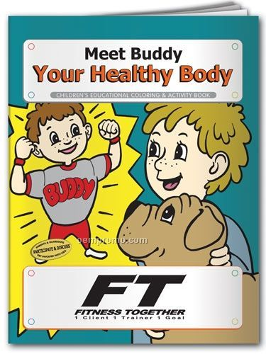 Action Pack Coloring Book W/Crayons & Sleeve - Meet Buddy Your Healthy Body