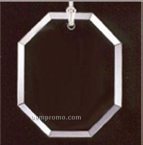 Classy Ornamentals. Beveled Octagon Starfire Glass Ornament W/Hole.