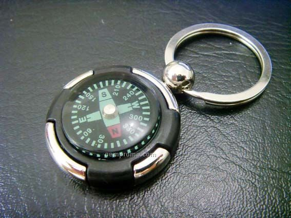 Key Chain/Ring With Compass