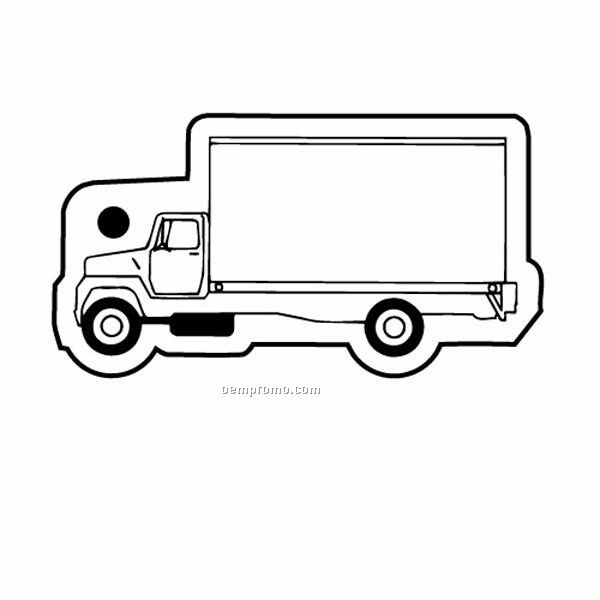 Stock Shape Collection City Truck 2 Key Tag